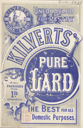 Advert For Kilvert's Pure Lard